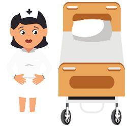 Krankenschwester neben Krankenbett