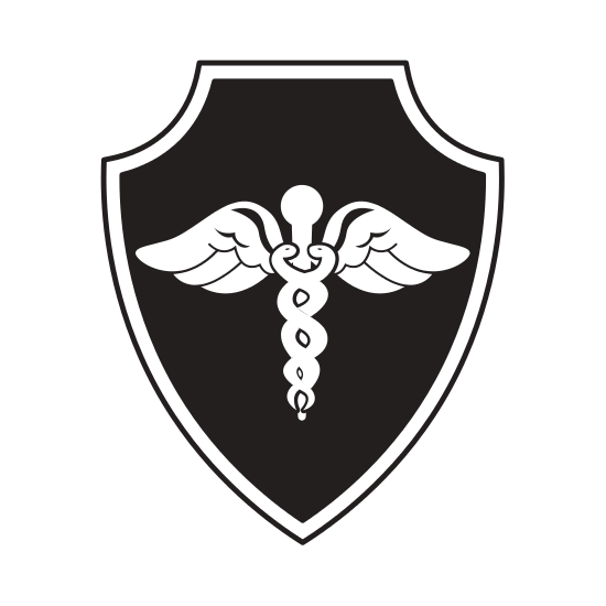 Schild mit medizinischem Symbol