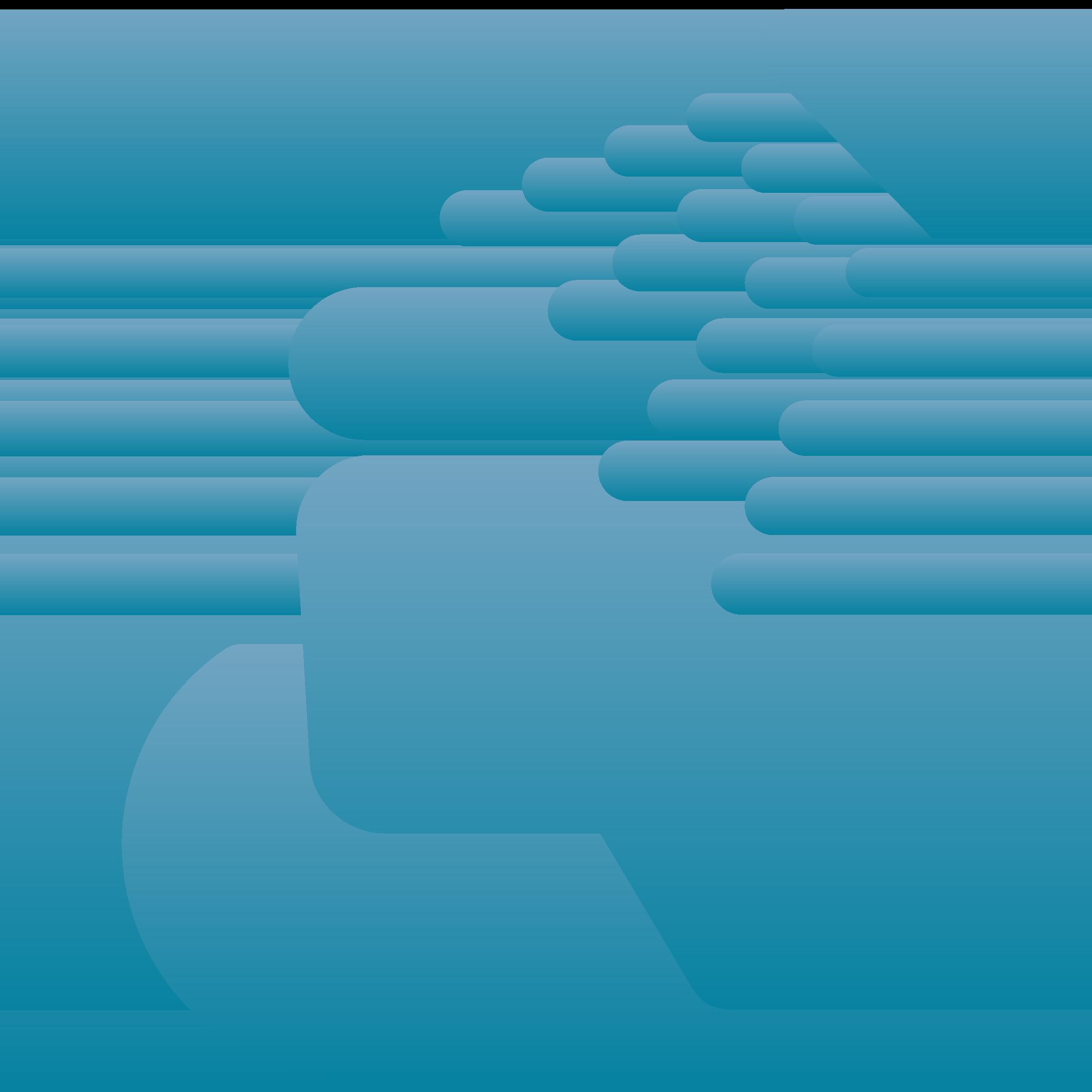 Männchen im Rollstuhl unter einer Duschbrause.