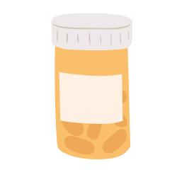 Dose mit Tabletten