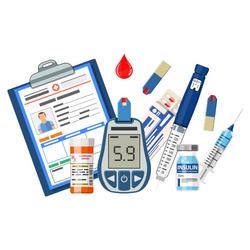 Zeigefinger auf Messgerät