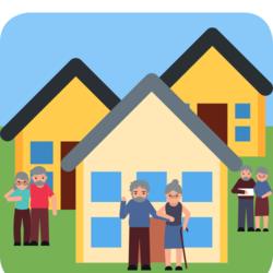 Wissen: Drei Häuser mit drei älteren Pärchen