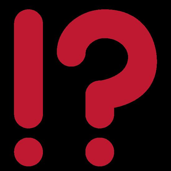 Fragezeichen und Ausrufezeichen