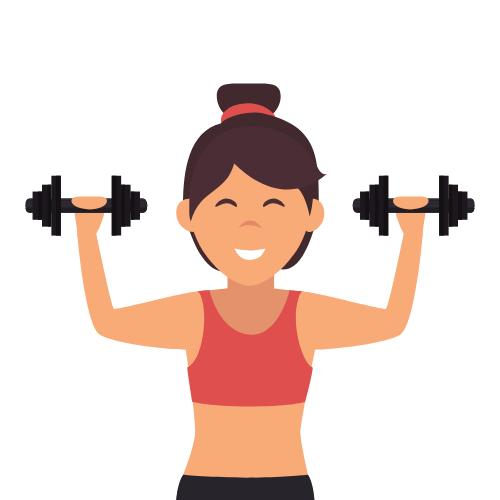 Eine Frau die Sport macht