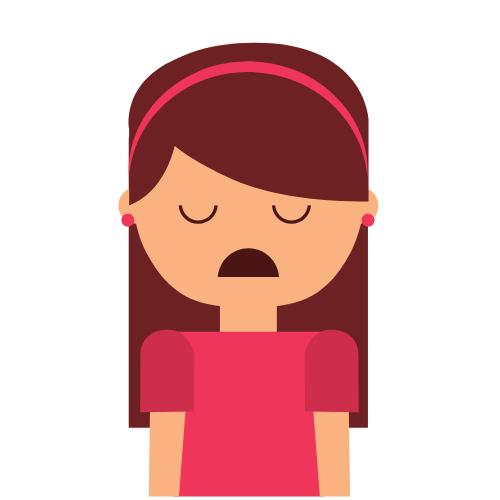 Eine Frau mit Depression