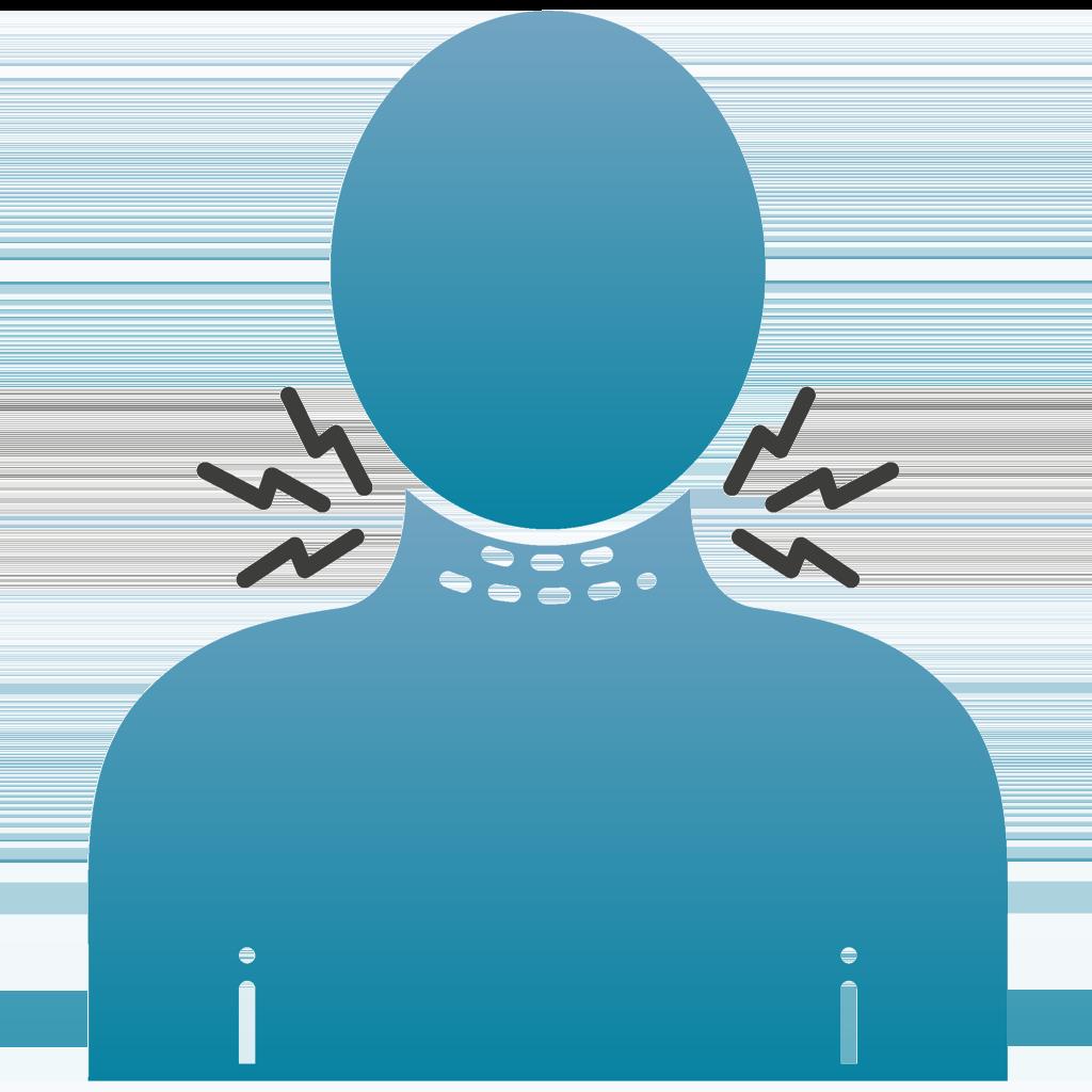 ein Piktogram mit einer Tracheostomahilfe