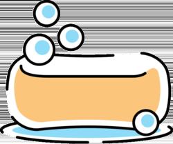 Wissen: Ein Stück Seife mit Bläschen.