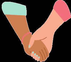 Zwei Hände halten einander fest