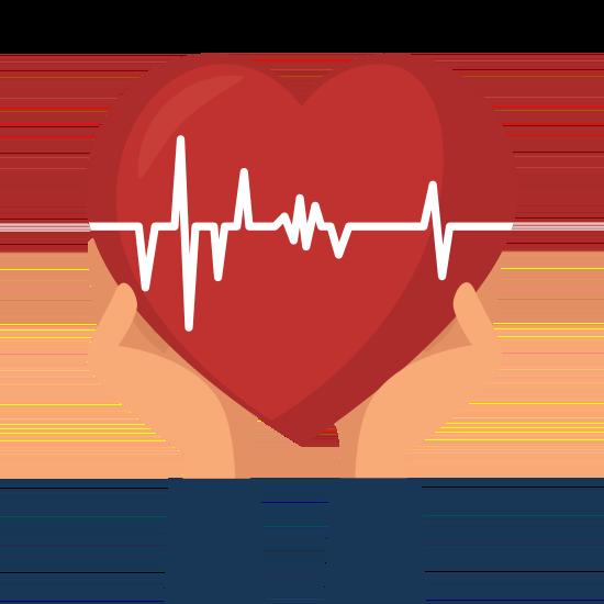 Herz mit Herzschlag