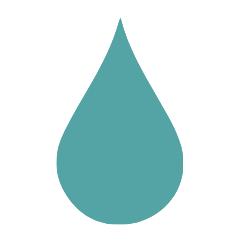 Blau-türkiser Inkontinenz- Tropfen