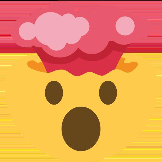 Emoji mit rauchendem Kopf