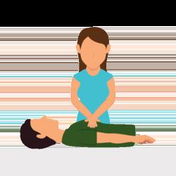 Person übt eine Herz-Lungen-Wiederbelebung an einer anderen Person