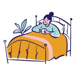 stationäre Behandlung oder zu Hause bei Palliativmedizin