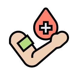 Pflaster am Arm für chronische Wunden