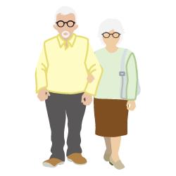 Senioren die winken