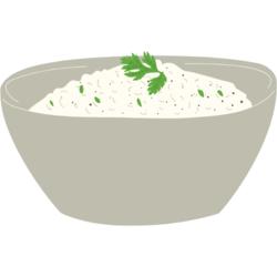 Reis in einer Schale