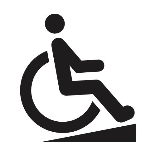Rollstuh mit einer Rampe
