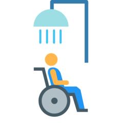 Wissen: Rollstuhlfahrer unter der Dusche