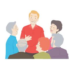 Senioren, die zusammen in einer Senioren-Wohngemeinschaft leben