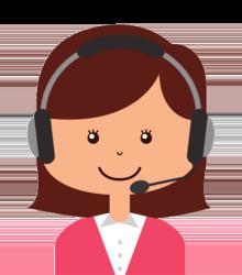 Wissen: Eine Frau mit einem Headset