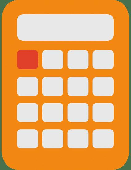 Orangener Taschenrechner