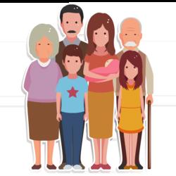 Wissen: Sieben Personen unterschiedlichen Alters stehen nebeneinander.