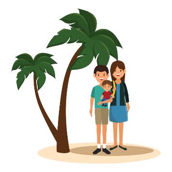 Paar auf Insel