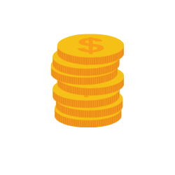 Geldmünzen die gestapelt sind