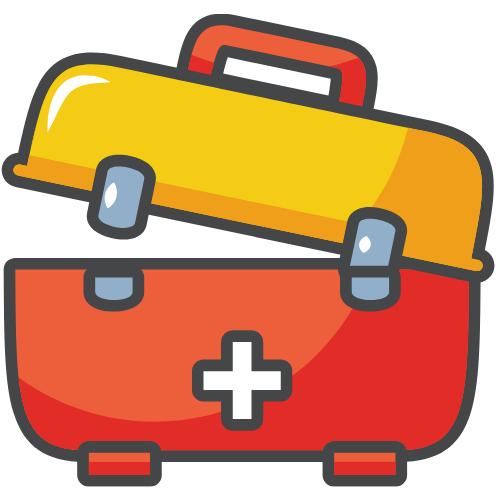 Koffer mit einem Kreuz drauf