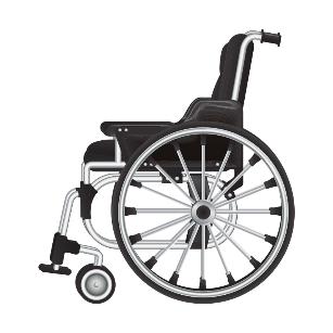 Rollstuhl von der Seite