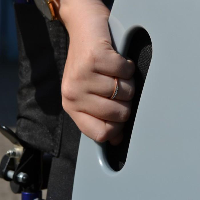 Der Silbergleiter ist in der Hand getragen zu sehen.