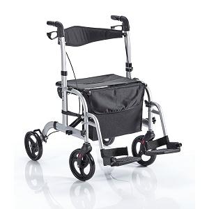 Rollator und Rollstuhl 2in1